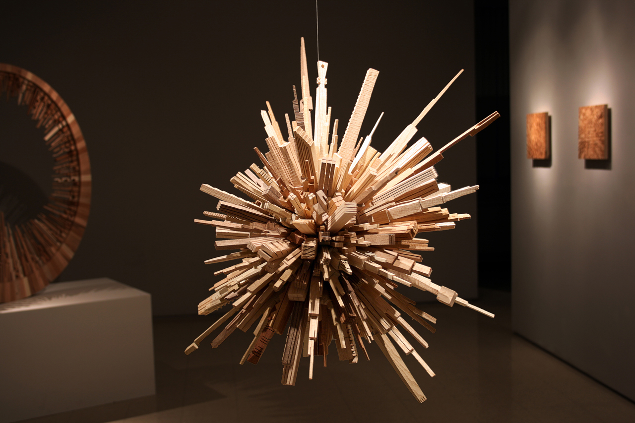 How It S Made Spherical Wooden City From Scrap Wood