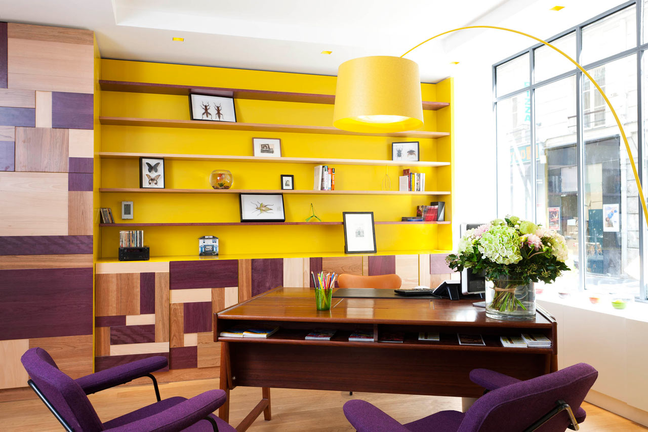 Eclectic and colorful hotel crayon paris design milk for Design hotel paris