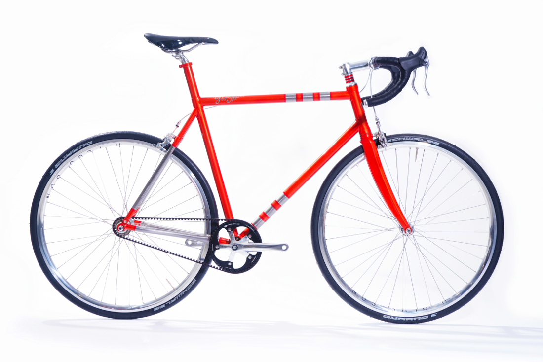 A Custom Made Bike Frame With 3D-Printed Parts