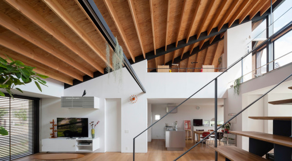 House with a Large Hipped Roof in Japan - Design Milk on studio home designs, pyramid home designs, square home designs, dome home designs, gambrel home designs, gable roof home designs, post and beam home designs, hipped roof home designs, vertical home designs, polygon home designs,
