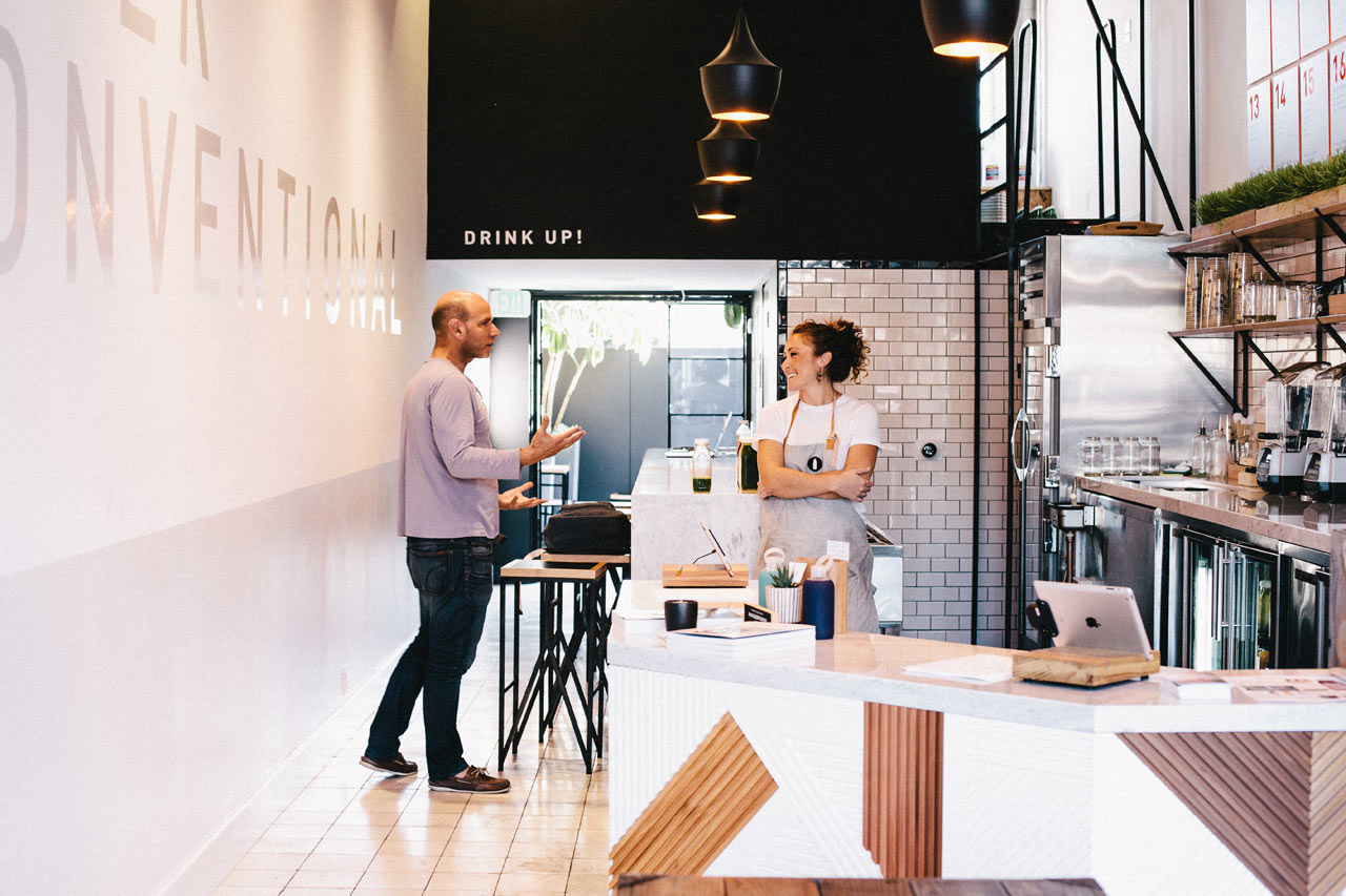 Interior design main · a modern juice bar designed by bells whistles