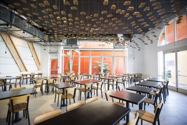A Venice Beach, CA Restaurant with an Inventive Ceiling in main interior design  Category