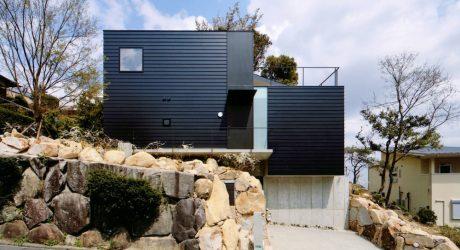 A House Built into the Rugged Terrain