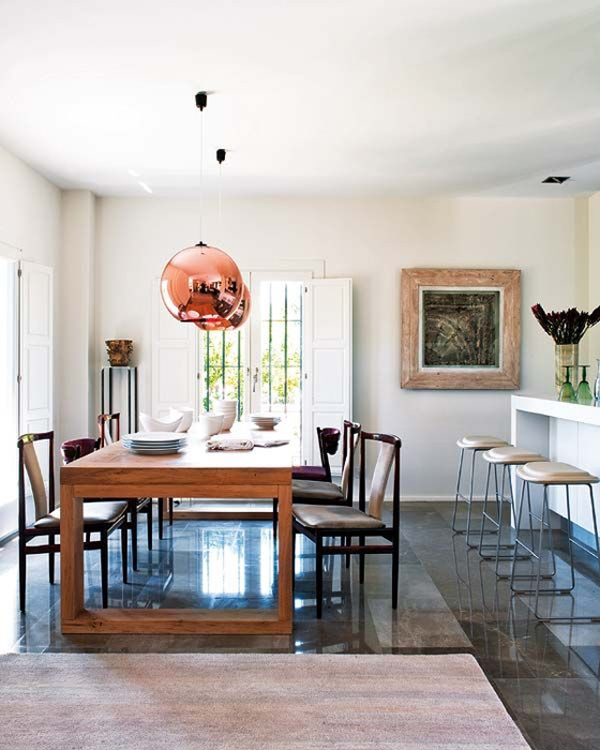 12 Rooms With Copper Pendants