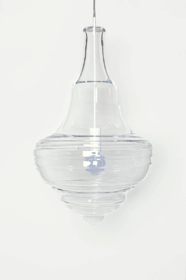 Blown glass pendants inspired by famous chandeliers design milk estates theater aloadofball