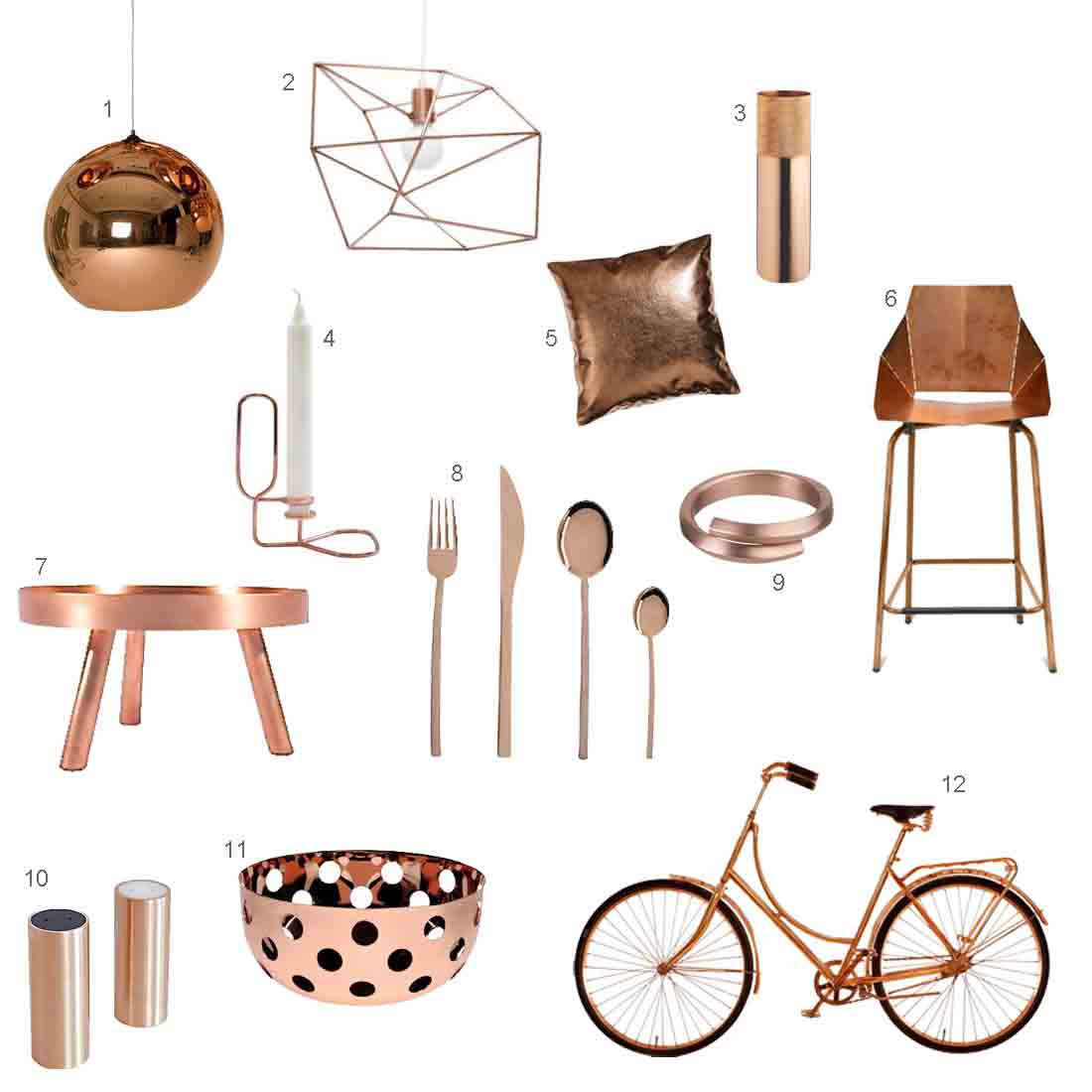 Roundup 12 modern copper accessories design milk Modern furniture home accessories