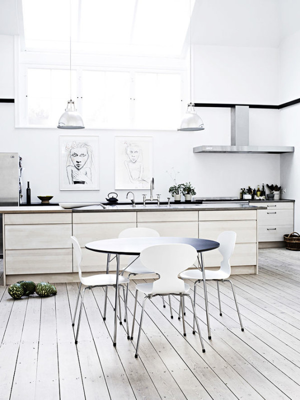 Beau Kitchen Art White Sketches