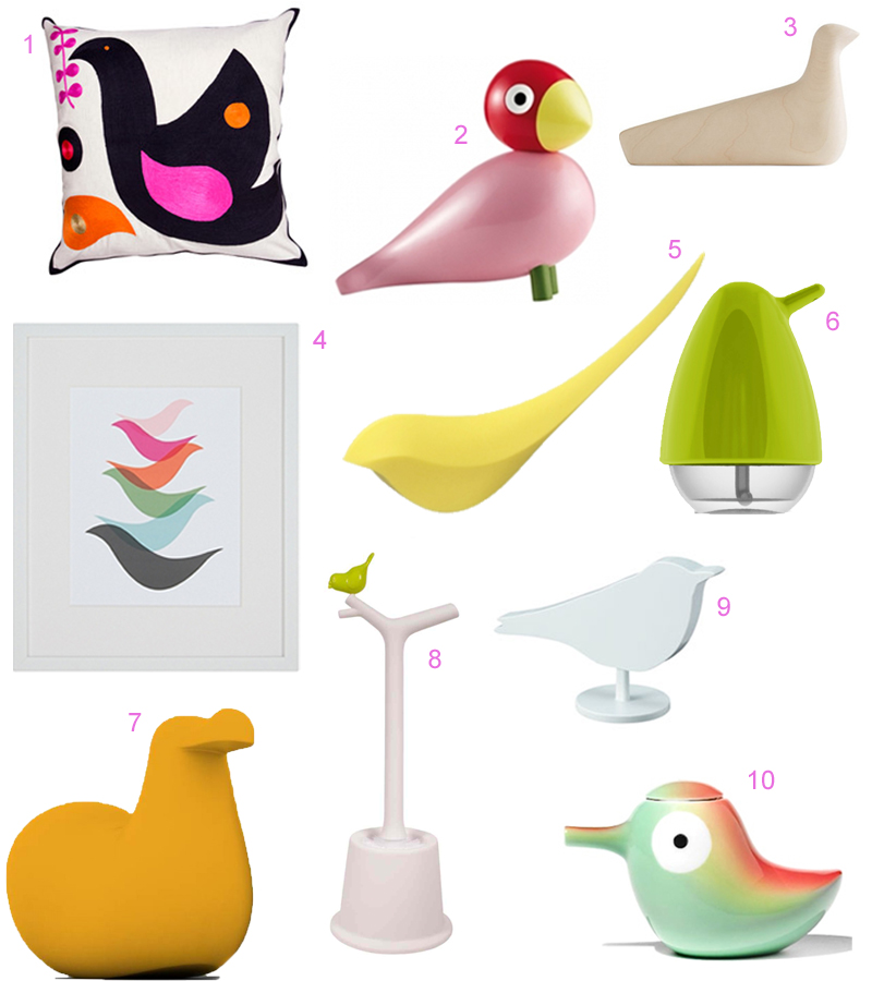 12 Scandinavian Style Bird Accessories