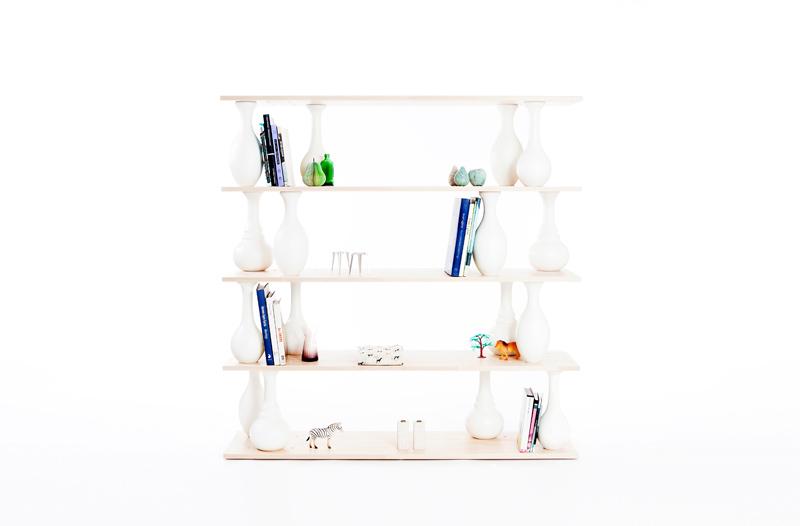 Vase Shelves by Bakery Studio