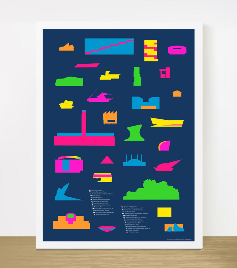 Museum Shapes Print by Yoni Alter