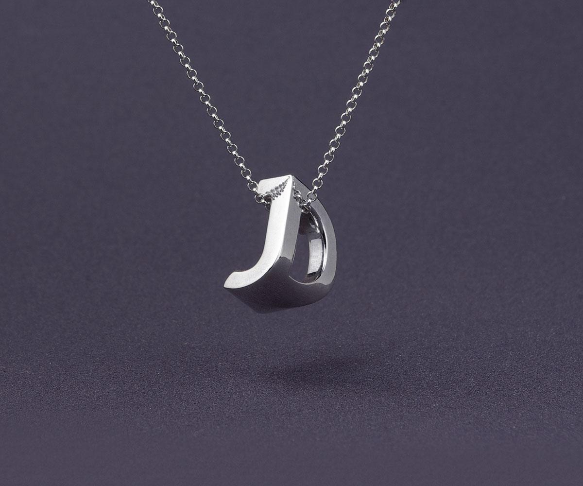 3D Printed Typographic Monogram Jewelry