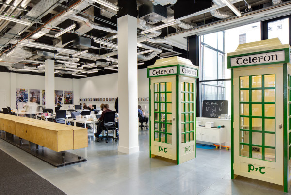 Dublin Offices of Airbnb Designed by Heneghan Peng in main interior design architecture  Category