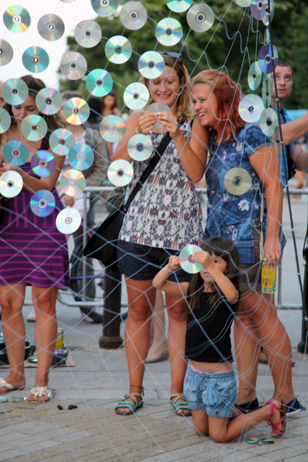 Mirror Culture: An Installation of 6000 CDs in art Category
