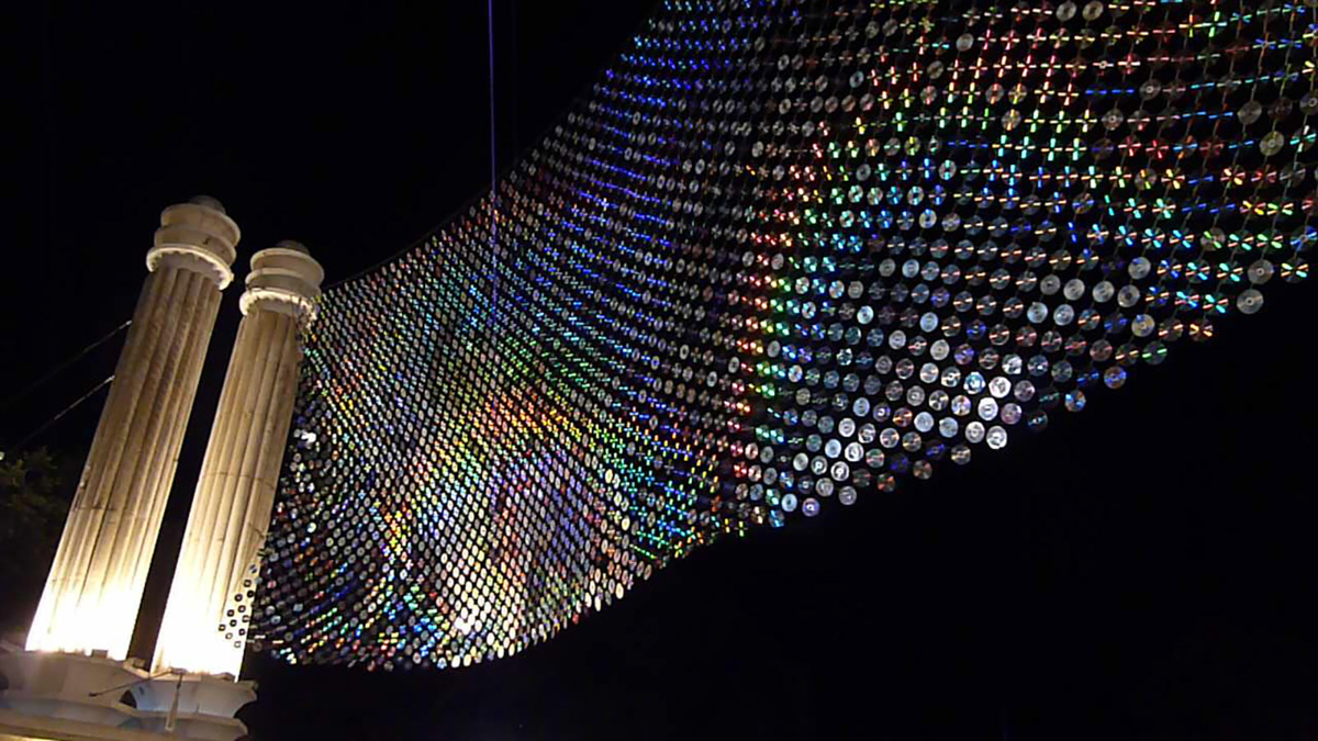Mirror Culture: An Installation of 6000 CDs