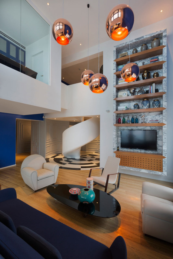 Blue Penthouse by Dariel Studio in main interior design  Category