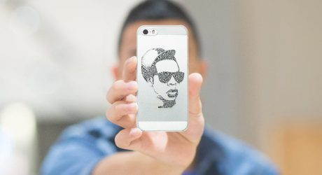 Typography Portrait Smartphone Cases by Sean Williams for Casetagram