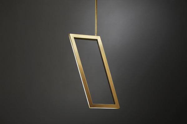 Asterix: A Family of Geometric Brass Chandeliers in main home furnishings  Category