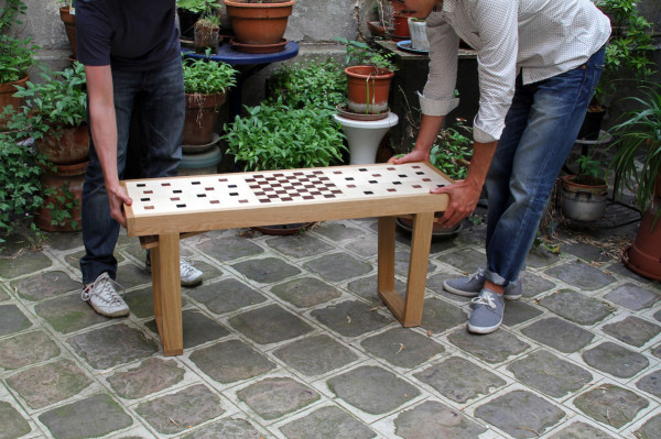 Congo Squares Bench: A Seat and Chess Board in One in style fashion main home furnishings  Category