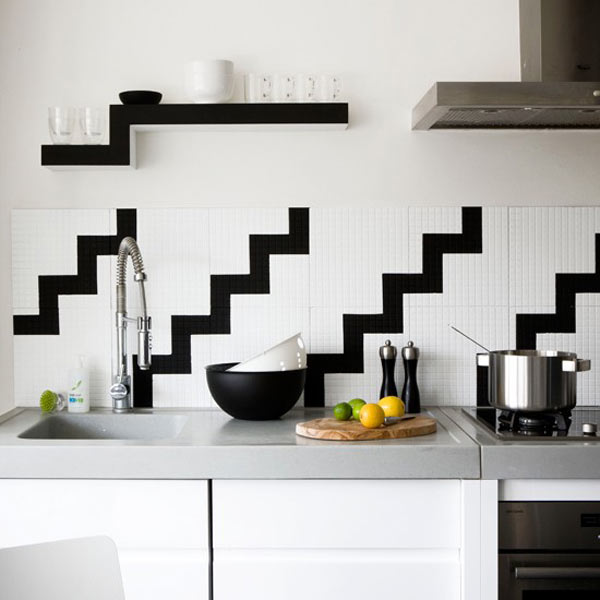 kitchen tiles for white kitchen. Photo by Paul Raeside 12 Creative Kitchen Tile Backsplash Ideas  Design Milk