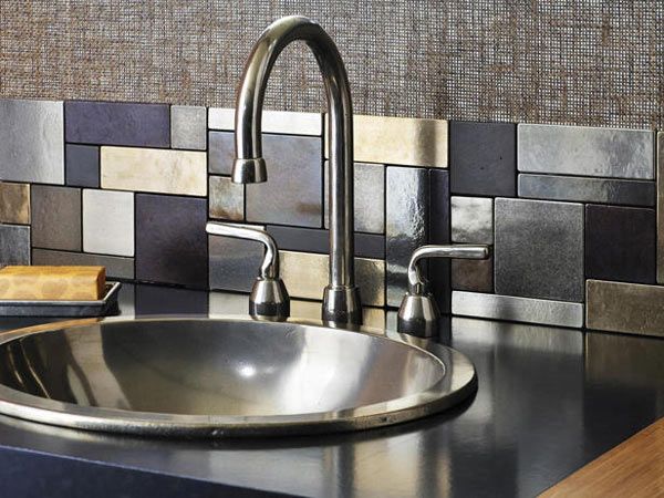 Creative-Kitchen-Backsplash-mixed-media-metals