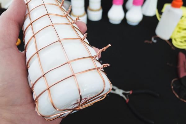 DIY Modernized Milk Glass