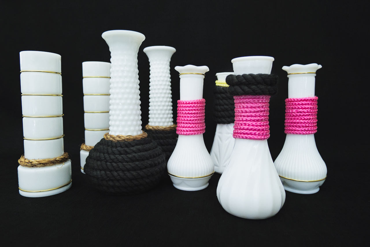DIY: How To Give Milk Glass Vases A Modern Update