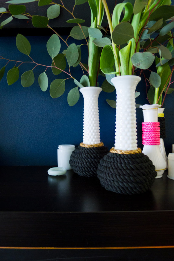 DIY Modernized Milk Glass