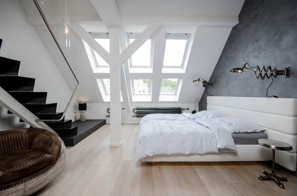 A Renovated Attic Apartment in Prague