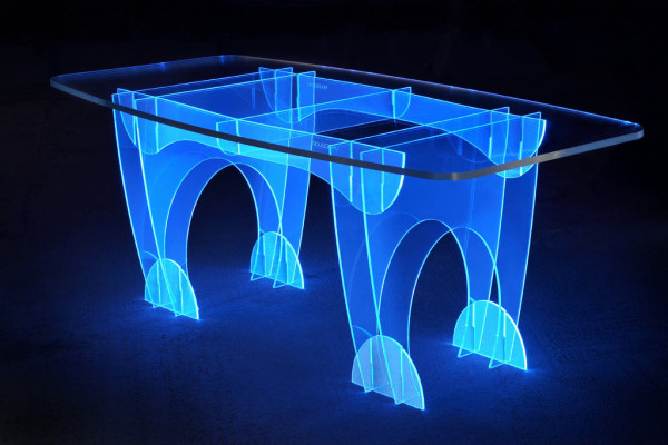 Electric Blue table by Ben Rousseau