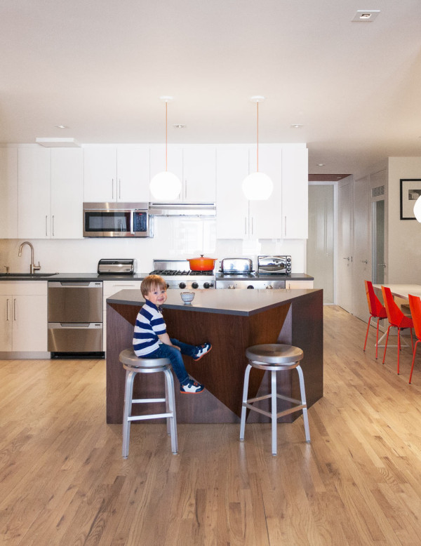 Cute Inside Light Loft NY MODU The kitchen island