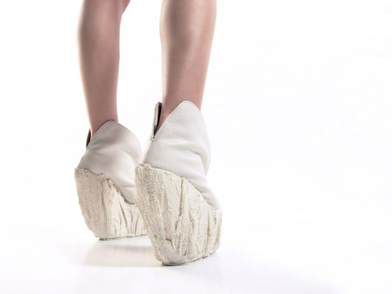 Porcelain Platform Shoes by Laura Papp
