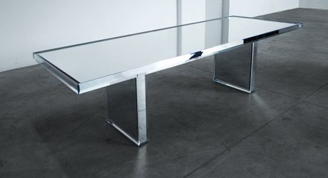PRISM Mirror Table designed by Tokujin Yoshioka