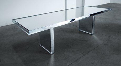 PRISM Mirror Table designed by Tokujin Yoshioka