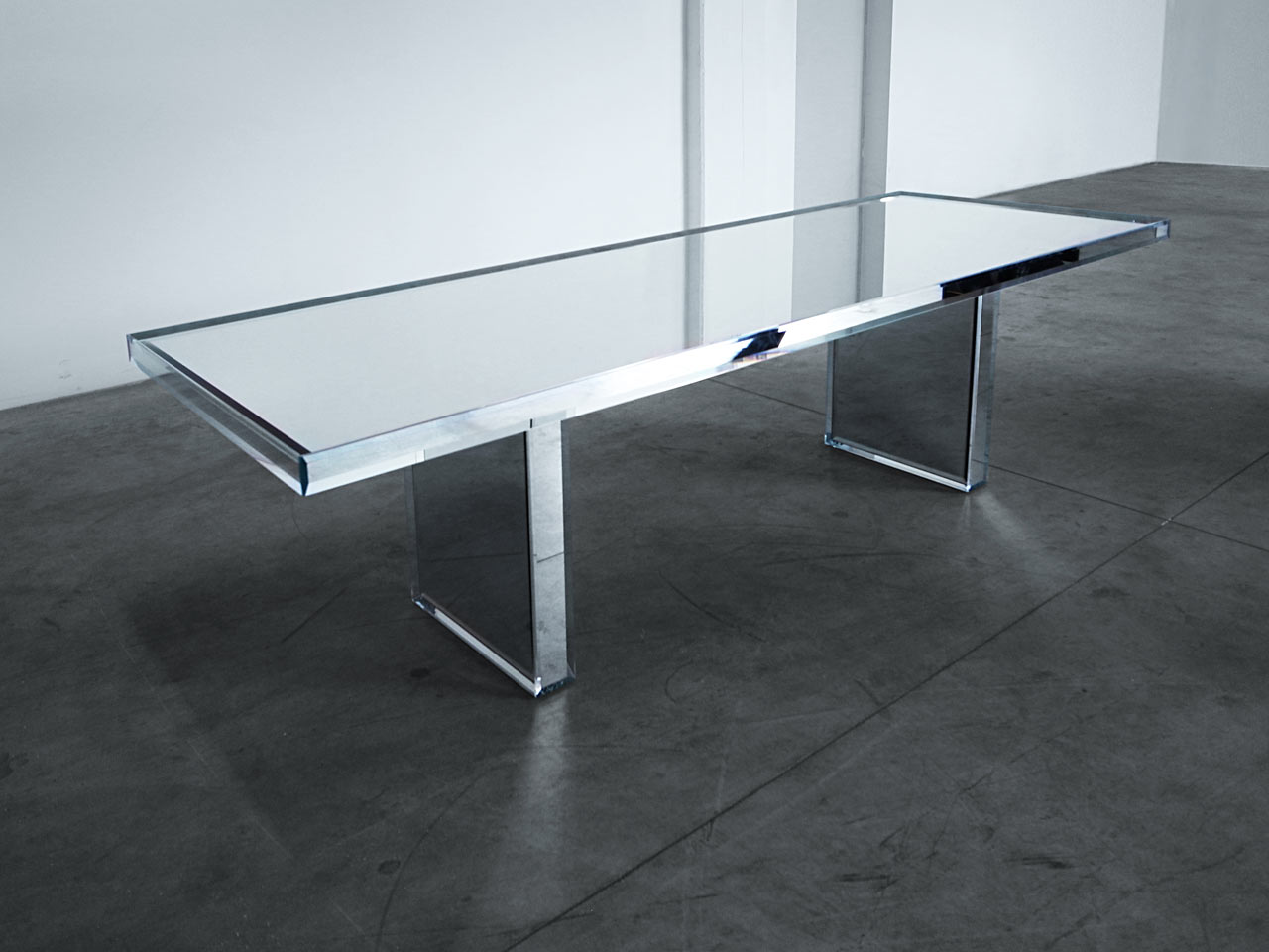 mirror table. prism mirror table designed by tokujin yoshioka e