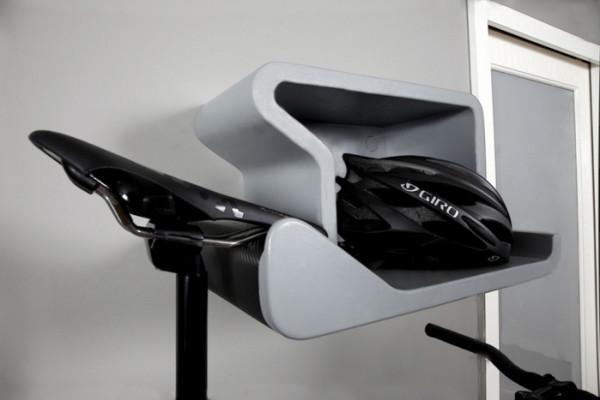 shelfie bike rack also holds your helmet design milk. Black Bedroom Furniture Sets. Home Design Ideas