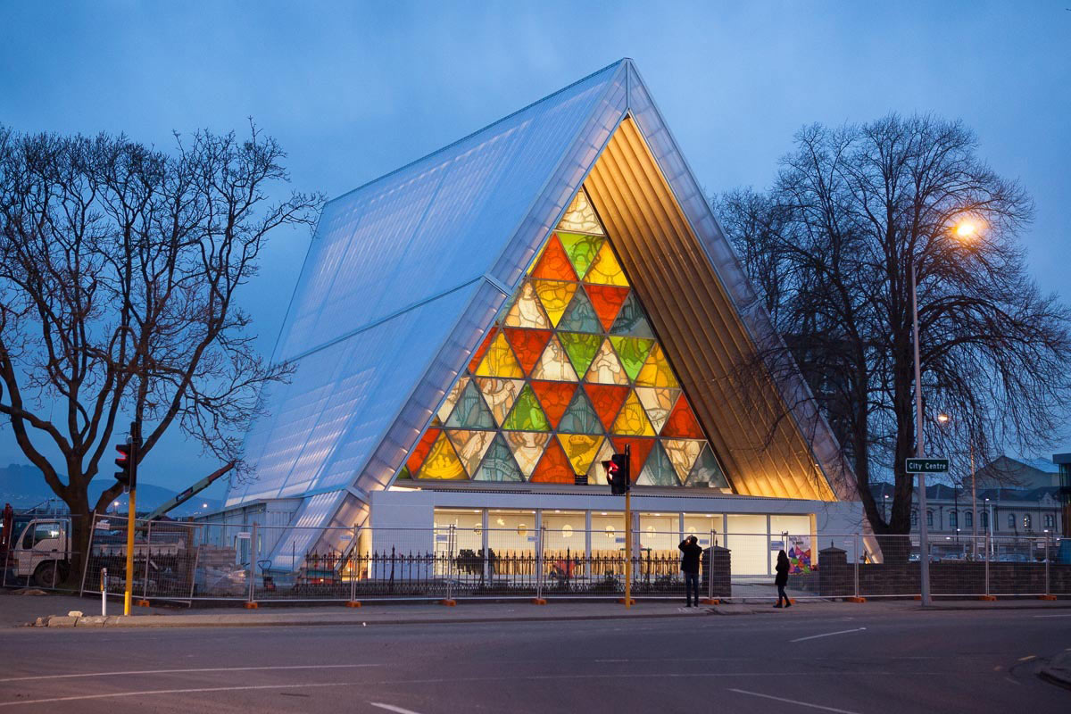 Shigeru Ban's Cardboard Cathedral in New Zealand