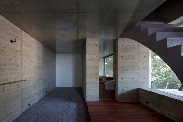 Two Volumed Birds Nest House by CUBO Design Architect in main architecture  Category