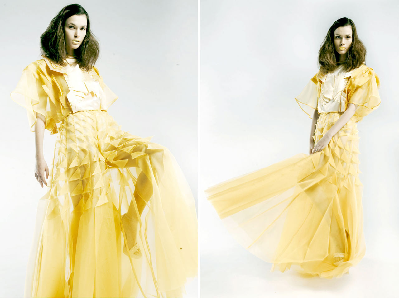 Hand-Pleated Clothing Inspired by Architecture