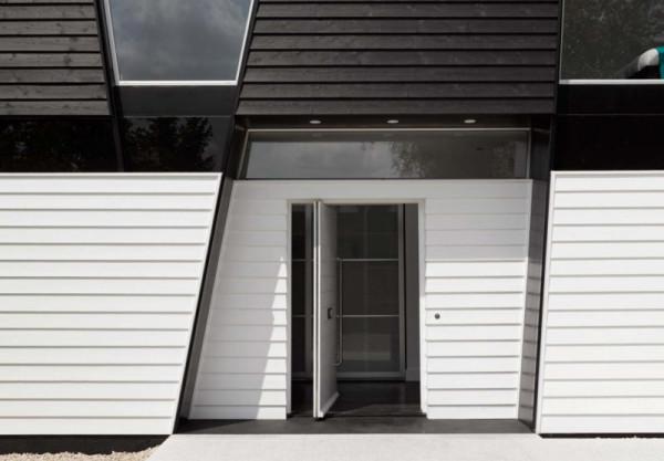 Excellent A Black White House With Geometric Details Design Milk Largest Home Design Picture Inspirations Pitcheantrous