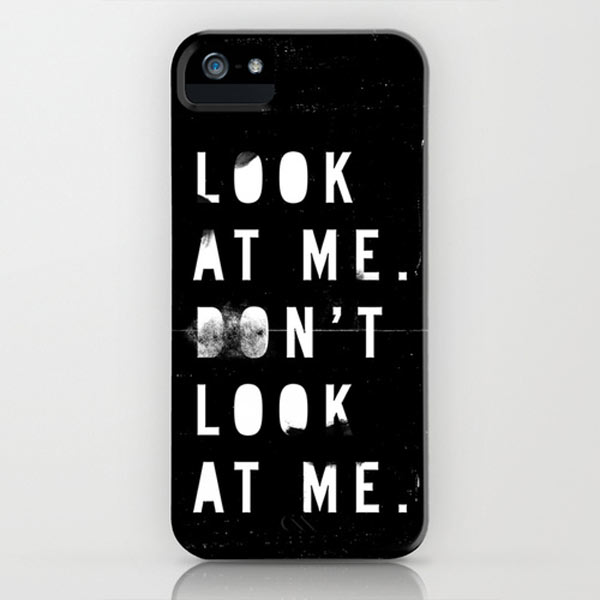kisforblack-look-at-me-iphone-case