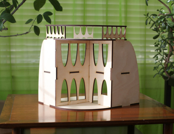 Sustainable Mid-Century Modern Dollhouse and Furniture - Design Milk