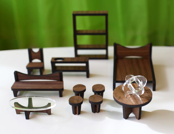 dollhouse modern furniture. modernsustainabledollhousefurniturewalnut dollhouse modern furniture r