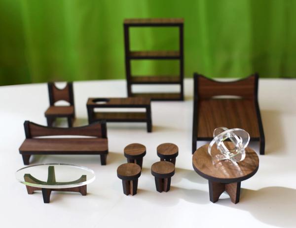 modern sustainable dollhouse furniture walnut. Sustainable Mid Century Modern Dollhouse and Furniture   Design Milk