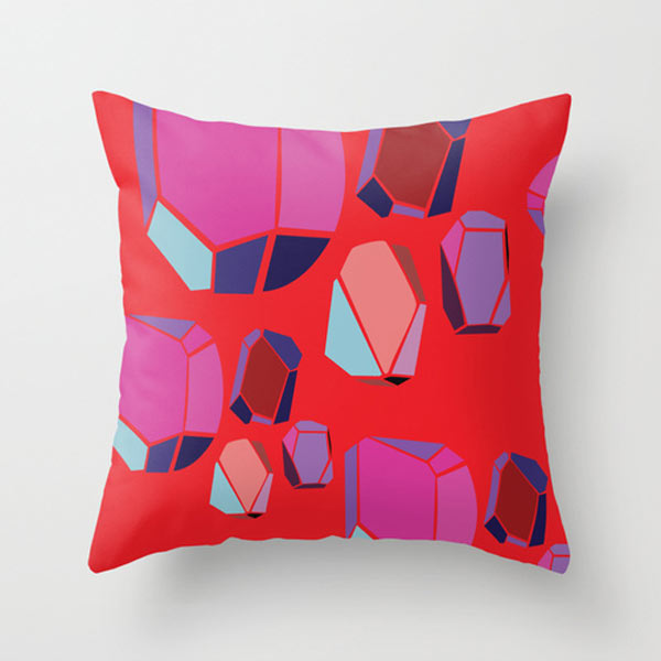 s6-emerald-stones-throw-pillow