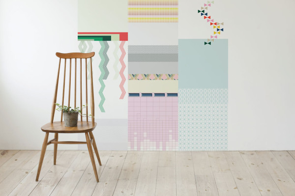 Cut & Paste Wallpaper Collection by All The Fruits in main interior design home furnishings art  Category