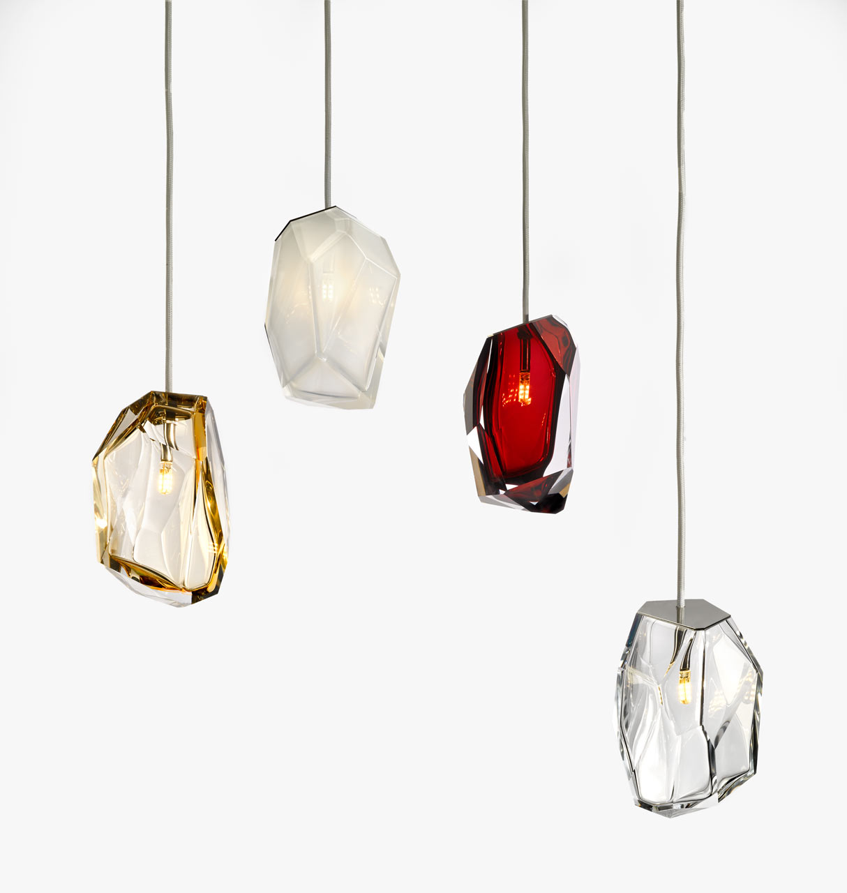 Crystal Rock Lighting by Arik Levy for Lasvit