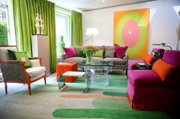 18 Rooms with Colorful Rugs - Design Milk
