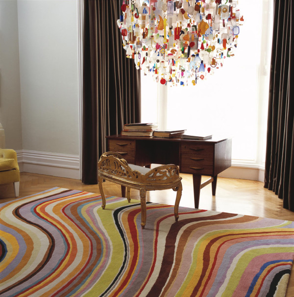 Colorful Rug Paul Smith Swirl