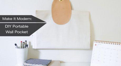 DIY Portable Hanging Wall Pocket