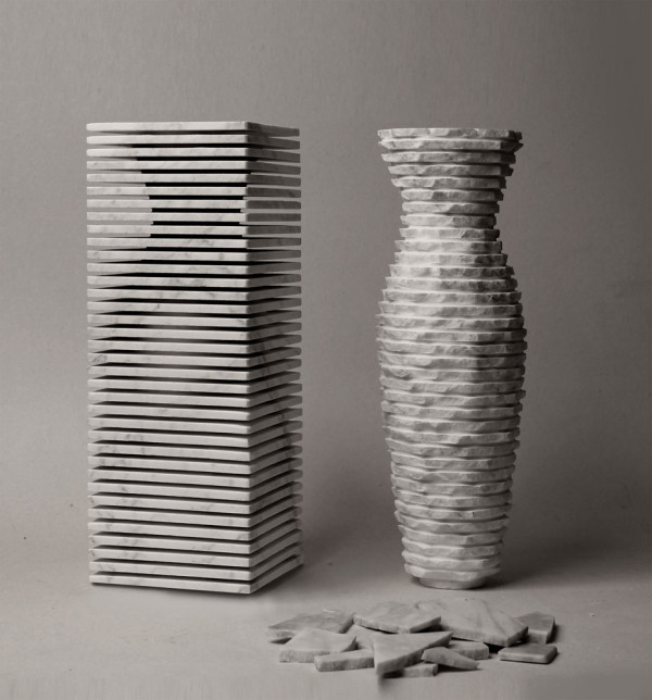 A Marble Vase with Dual Personalities in main home furnishings  Category